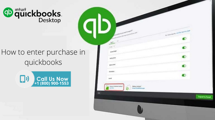 How to enter purchase in QuickBooks?