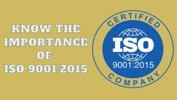 Know the importance of ISO 9001_2015